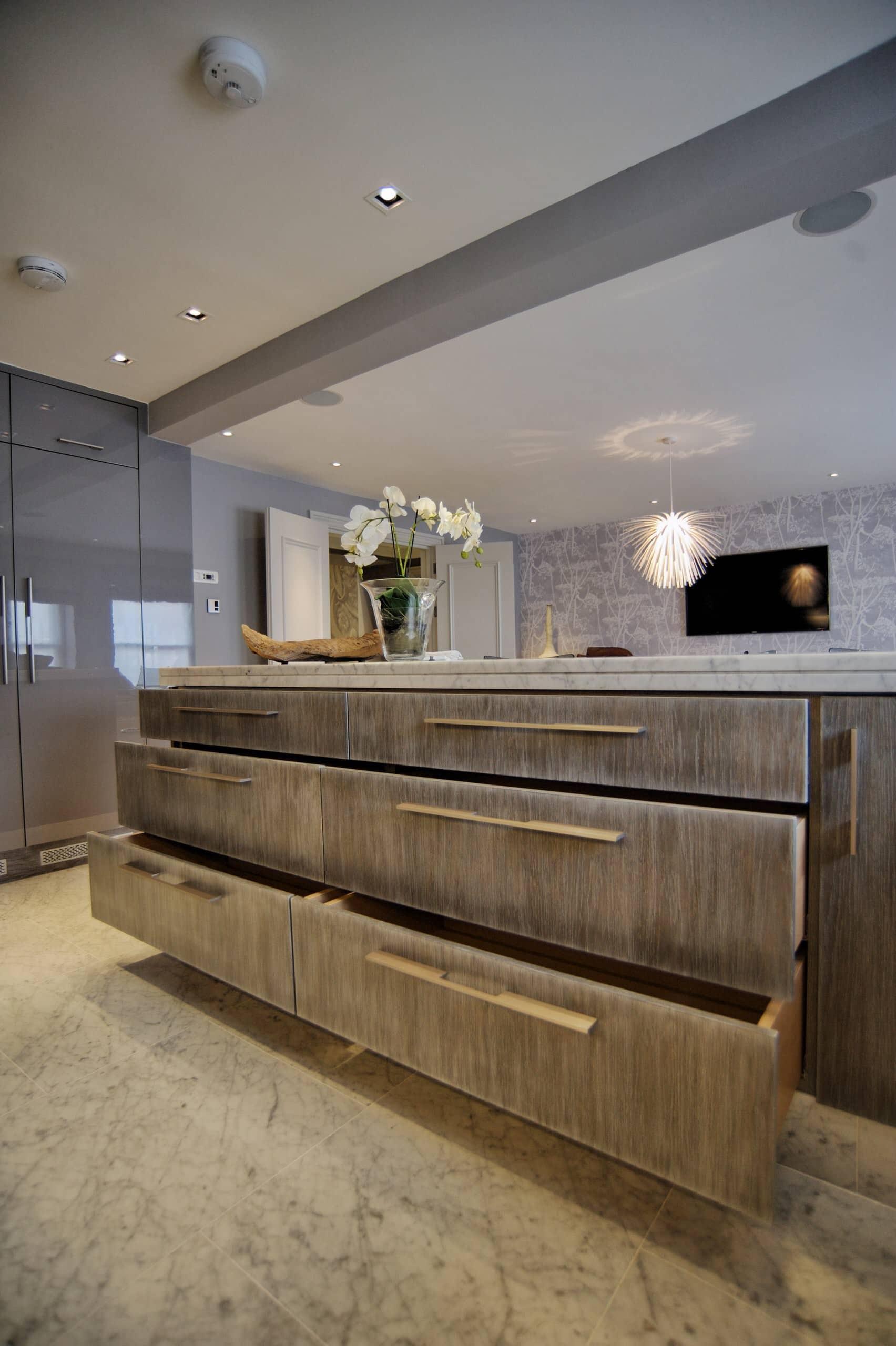 Brushed kitchen units