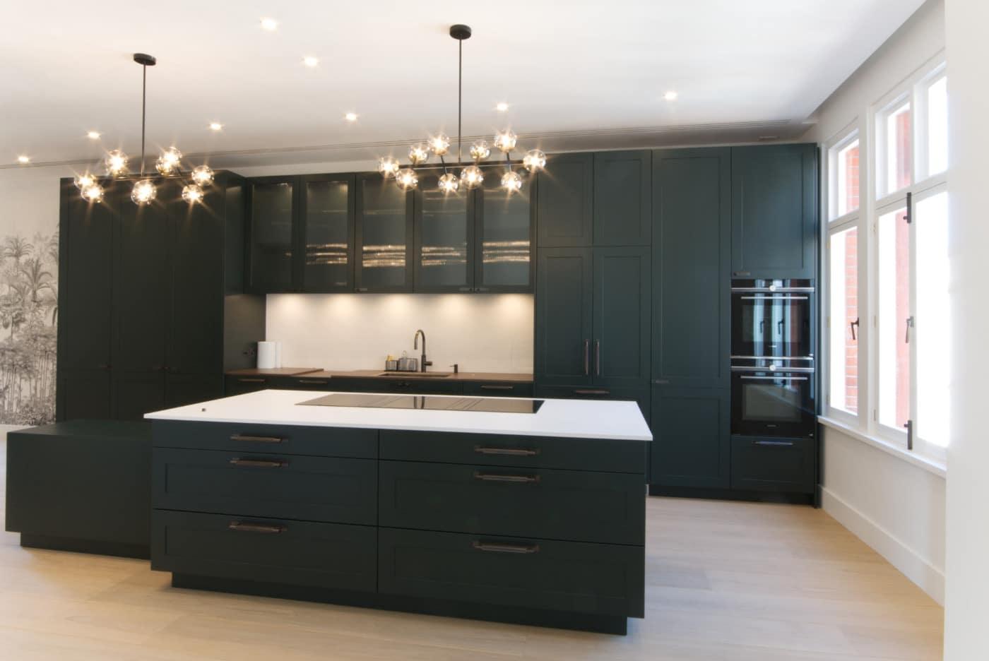bespoke green kitchen