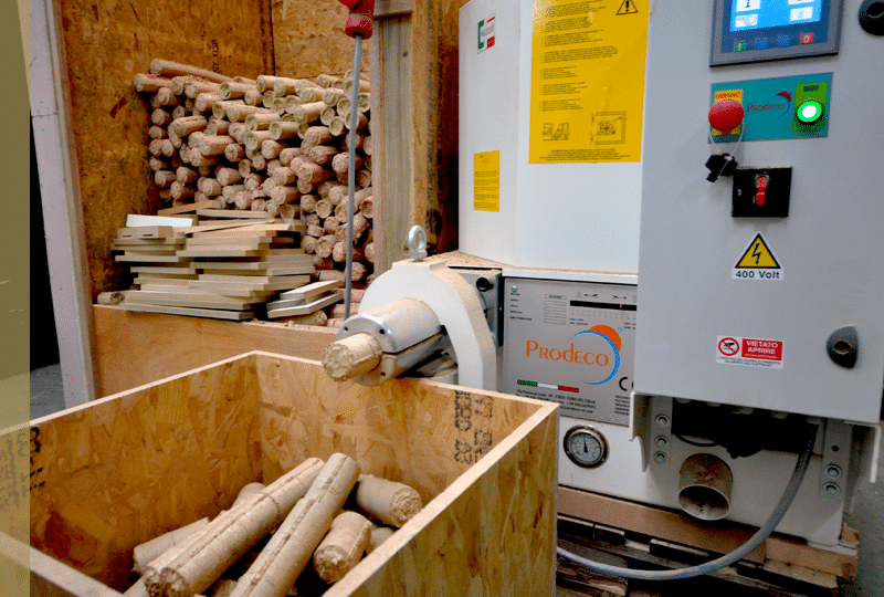 Briquetting machine - environmentally friendly joinery